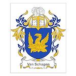 Van Schagen Coat of Arms Small Poster