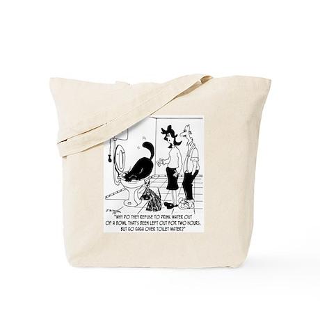 Pets Love Toilet Water Tote Bag