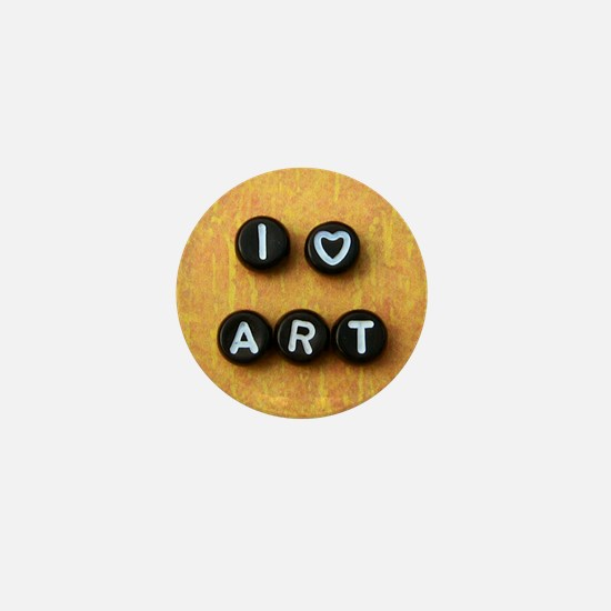 I Heart Art Mini Button