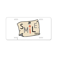 OYOOS Smile design Aluminum License Plate