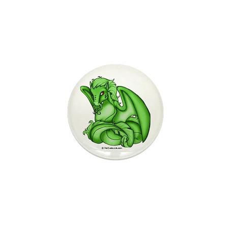 Green Dray Mini Button