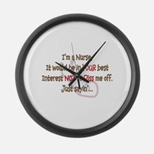 Nurse Humor Large Wall Clock