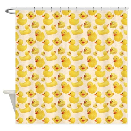 Elegant Rubber Duck Shower Curtain