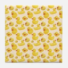 Rubber Duck Tile Coaster