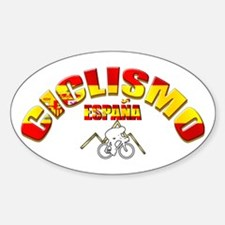 Spanish Cycling Sticker (Oval)