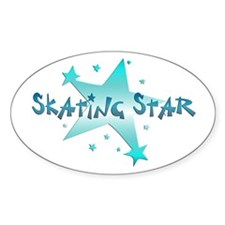 Skating Star Decal