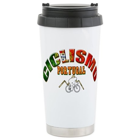 Portugal Cycling Stainless Steel Travel Mug