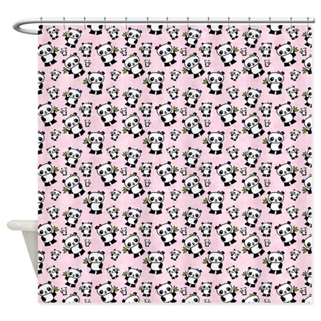 cute panda shower curtain by esangha