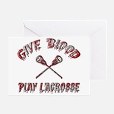 Give Blood Play Lacrosse Greeting Card