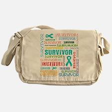 Survivor Ovarian Cancer Messenger Bag