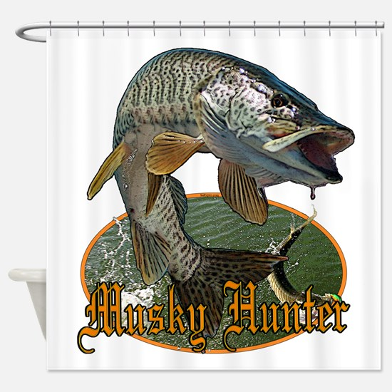 Musky Hunter 9 Shower Curtain