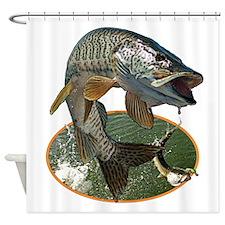 Musky Fishing Shower Curtain