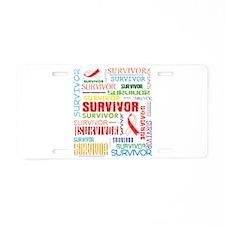Survivor Oral Cancer Aluminum License Plate