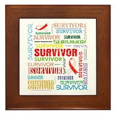 Survivor Oral Cancer Framed Tile