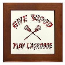 Give Blood Play Lacrosse Framed Tile