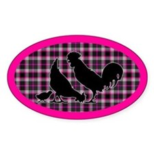 Hen And Rooster Decal