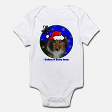 SANTA PAWS Sheltie Infant Bodysuit