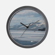 LG Winter Wall Clock