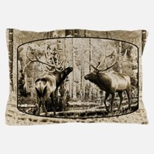 Bull elk face off Pillow Case
