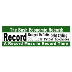 Record Mess in Record Time bumpersticker