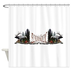 Elkaholic Shower Curtain