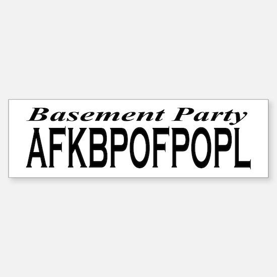 BP AFKBPOFPOPL Sticker (Bumper)