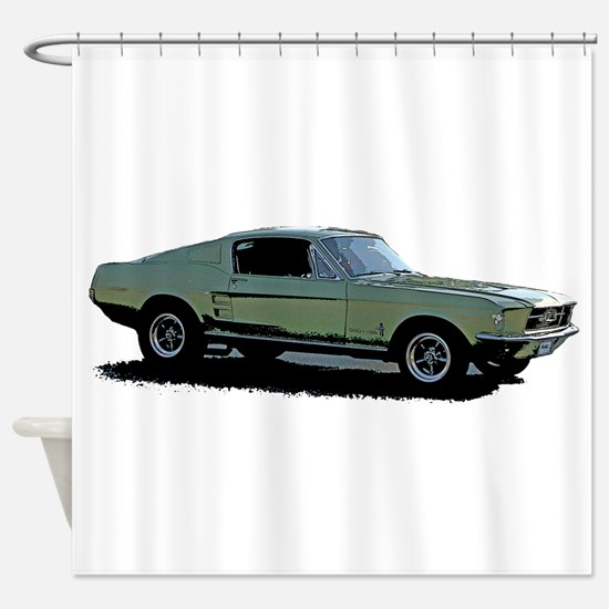 67 Mustang 4 Shower Curtain