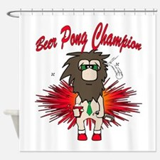 Beer Pong Champion Shower Curtain