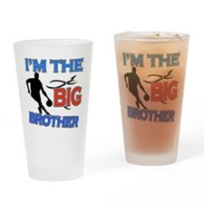 Cool Basketball Big Brother Design Drinking Glass