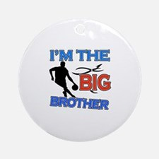 Cool Basketball Big Brother Design Ornament (Round