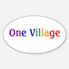 New Age Rainbow Gifts Oval Decal