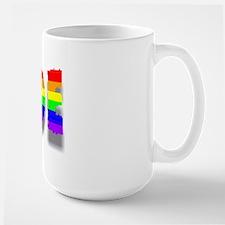 RAINBOW COLORED PRIDE TEXT 6 Mug