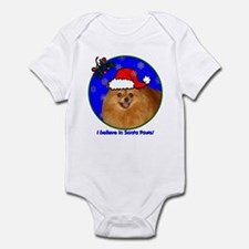 SANTA PAWS Pomeranian Infant Bodysuit