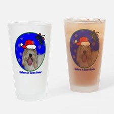 SANTA PAWS PBGV Drinking Glass