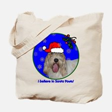 SANTA PAWS PBGV Tote Bag