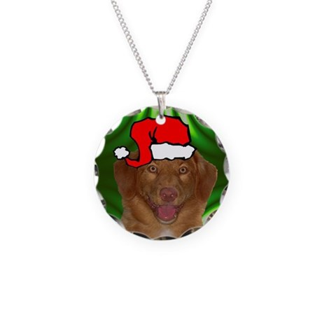 SANTA PAWS Toller Necklace Circle Charm