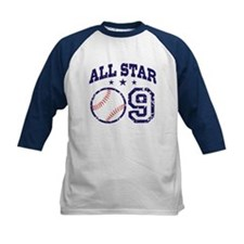 Nine Year Old Baseball All Star Tee