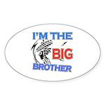 Cool Dirt Biking big brother design Sticker (Oval