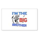 Cool Dirt Biking big brother design Sticker (Recta