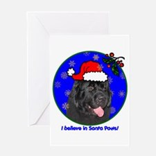 SANTA PAWS Newfoundland Greeting Card