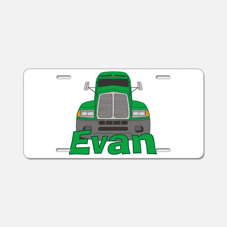 Trucker Evan Aluminum License Plate