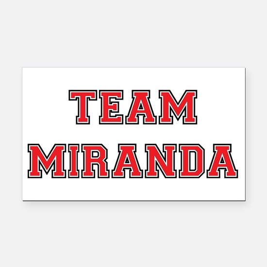 Team Miranda Rectangle Car Magnet