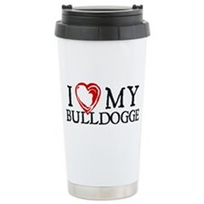 I Heart My Bulldogge Travel Mug