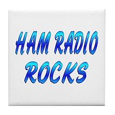Ham Radio ROCKS Tile Coaster