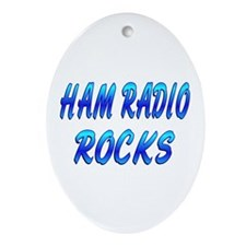 Ham Radio ROCKS Ornament (Oval)