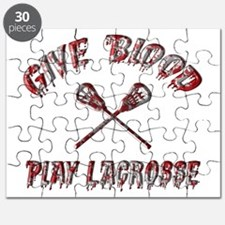 Give Blood Play Lacrosse Puzzle