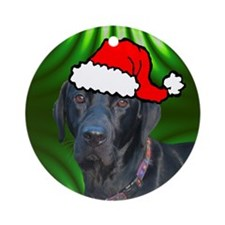 SANTA PAWS Lab Ornament (Round)