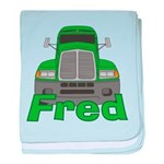Trucker Fred baby blanket