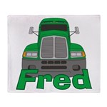 Trucker Fred Throw Blanket