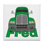 Trucker Fred Tile Coaster